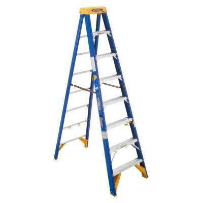 8 ft. Fiberglass Electricians JobStation  Step Ladder with 375 lb. Load Capacity Type IAA Duty Rating