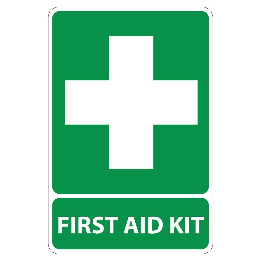 8 In X 12 In Plastic Green First Aid Kit Sign Pse 0004