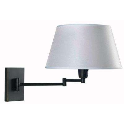 Simplicity 1-Light Oil-Rubbed Bronze Wall Swing Arm Lamp