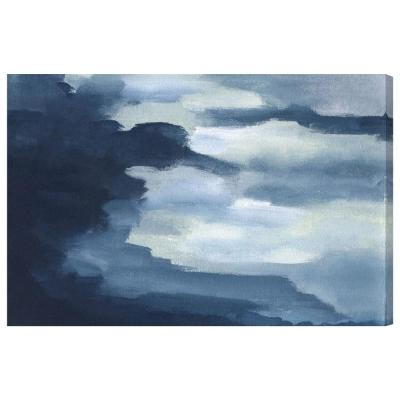 30 in. x 45 in. 'Waterfalls' by Oliver Gal Printed Framed Canvas Wall Art