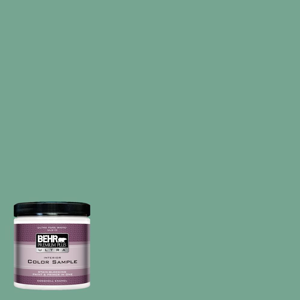 behr premium plus ultra 8 oz m420 5 free green eggshell enamel
