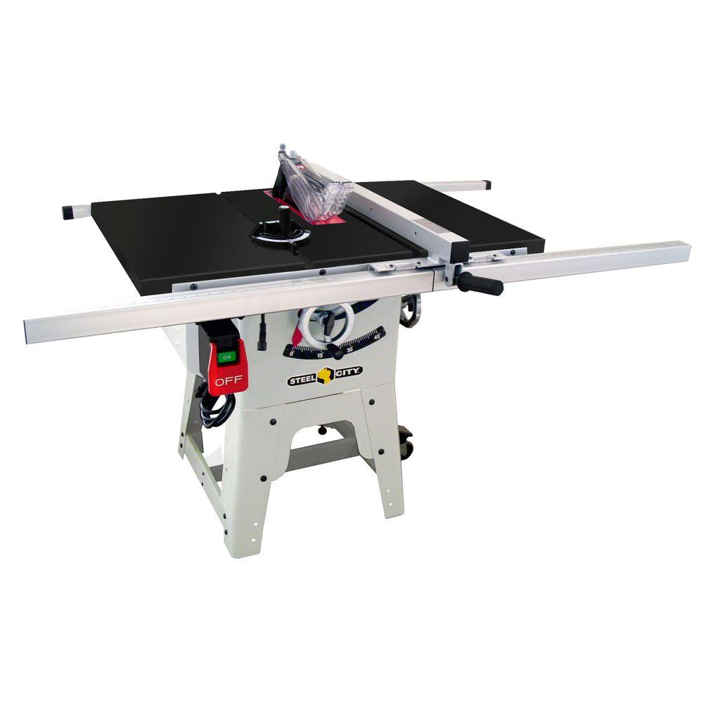 Steel City 10 in. Granite Contractor Table Saw