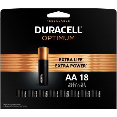 Optimum AA Alkaline Battery (18-Pack)