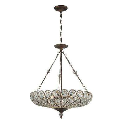 Christina 6-Light Mocha Ceiling Mount Chandelier