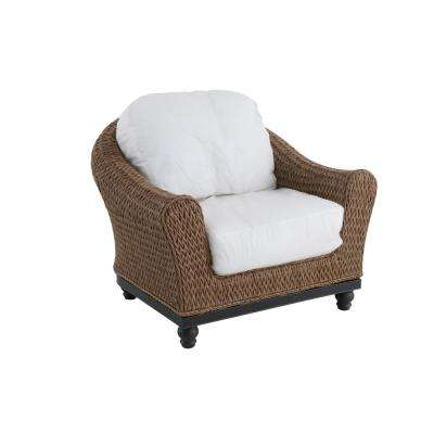 Camden Light Brown Wicker Outdoor Lounge Chair with Cushions Included, Choose Your Own Color (2-Pack)