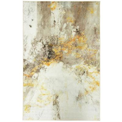 Gold Vein Grey 8 ft. x 10 ft. Abstract Area Rug