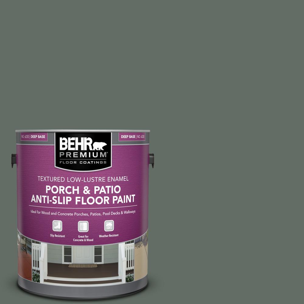 Behr Premium 1 Gal 700f 6 Dense Shrub Textured Low Lustre Enamel Interior Exterior Porch And Patio Anti Slip Floor Paint 623001 The Home Depot