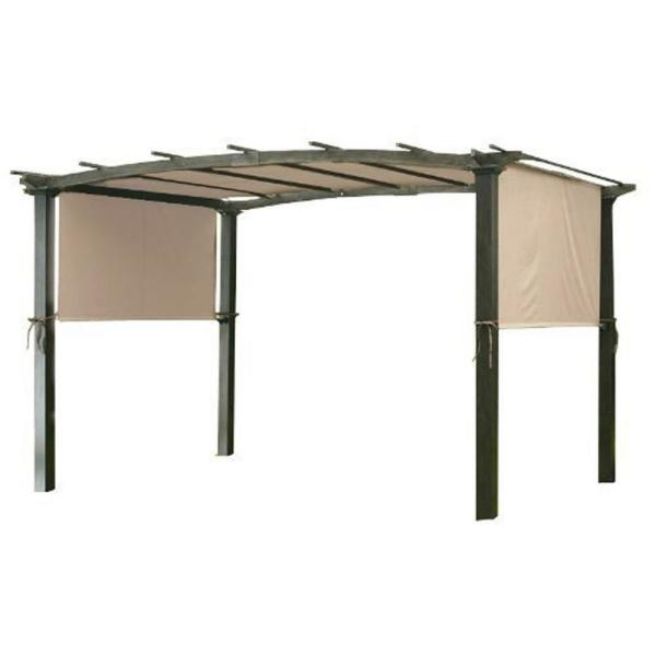 Garden Winds Universal Replacement Canopy Top Cover In Beige For Metal Pergola Frame Lcm490b The Home Depot