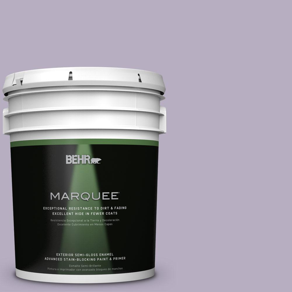 BEHR MARQUEE 5-gal. #BIC-07 Virtuous Violet Semi-Gloss Enamel Exterior Paint