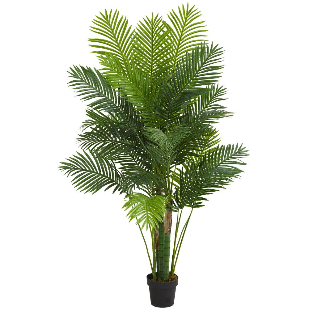 nearly natural indoor 6 ft hawaii palm artificial tree 5592 the home depot. Black Bedroom Furniture Sets. Home Design Ideas