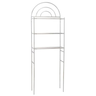 Arch Metal 23 in. W Space Saver with 3-Shelf in Chrome