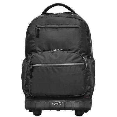 Melody 19 in. Black Rolling Backpack