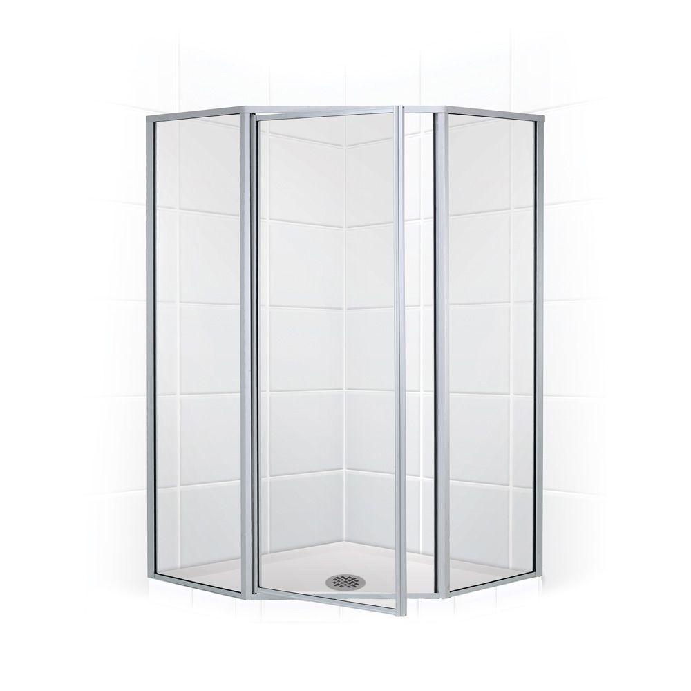 framed neoangle swing shower