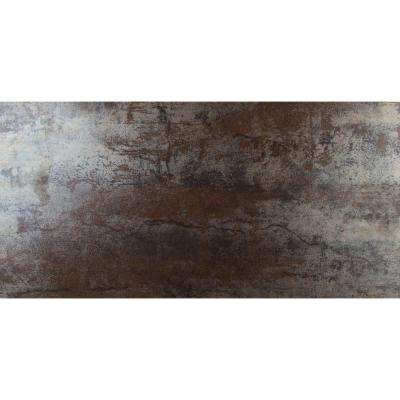 Metallica Rust 12 in. x 24 in. Glazed Porcelain Floor and Wall Tile (16 sq. ft. / case)