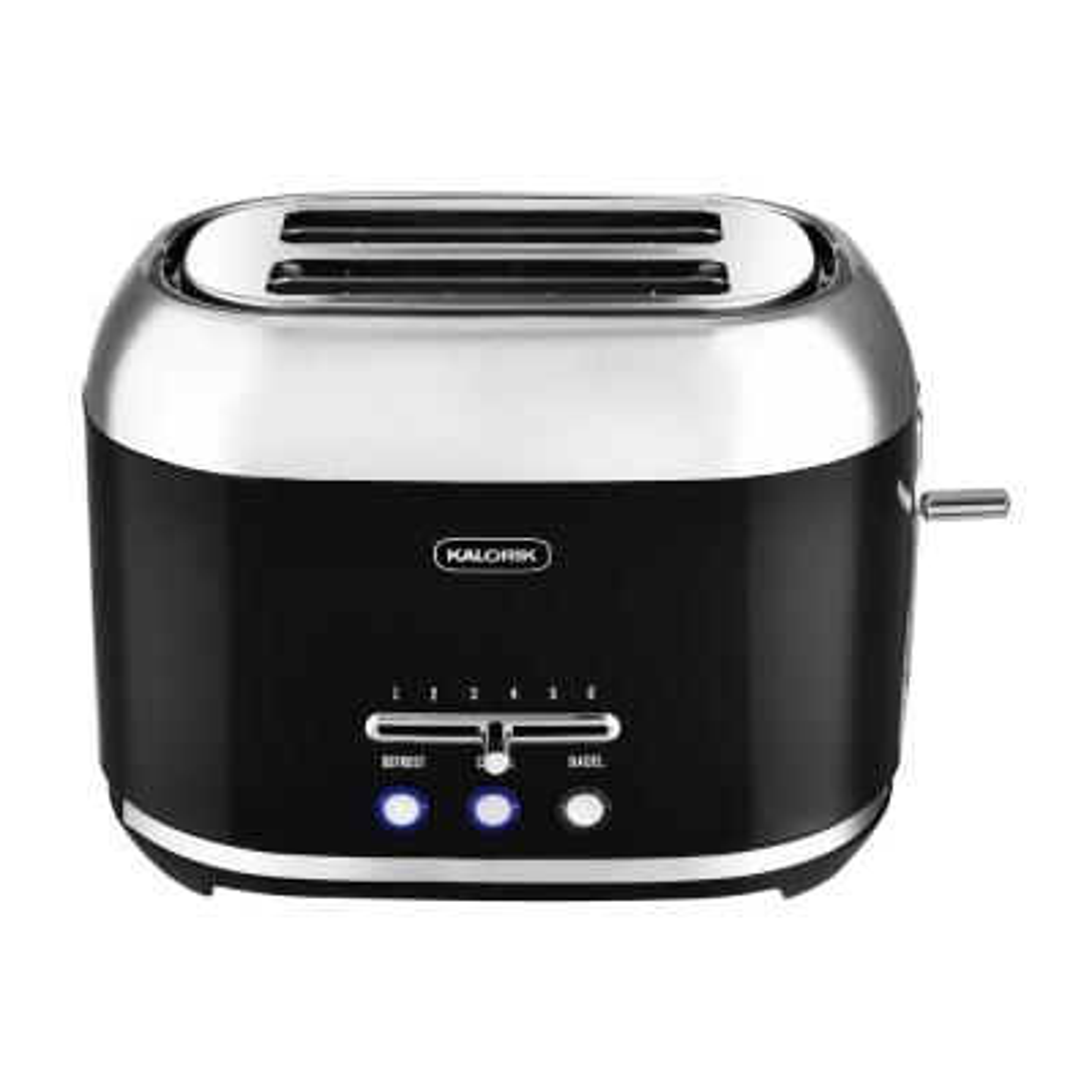 Retro 2-Slice Black Wide Slot Toaster