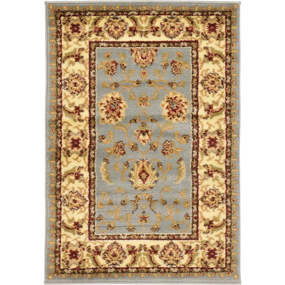 Size 2 7 X6 2 Agra Rug India: Unique Loom Agra Light Blue 2 Ft. 2 In. X 3 Ft. Area Rug