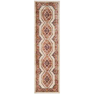 Bijar Ivory/Rust 2 ft. x 6 ft. Runner