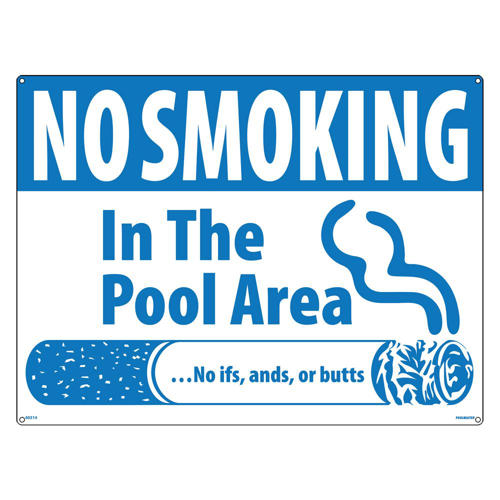 Butts No Smoking Swimming Pool and Spa Sign
