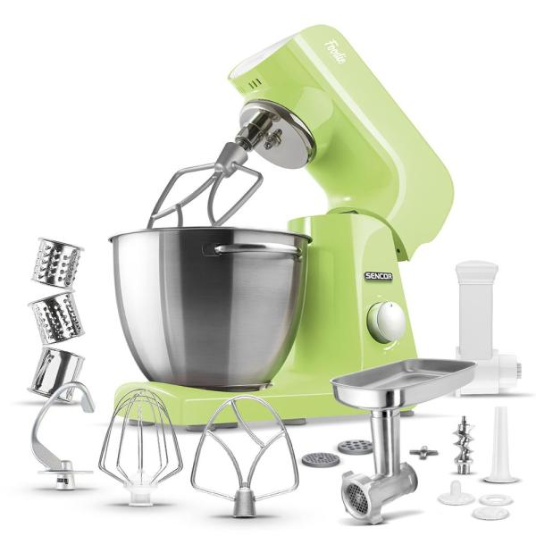 Sencor 4.75 Qt. 8-Speed Pastel Lime Green Stand Mixer with Beater,
