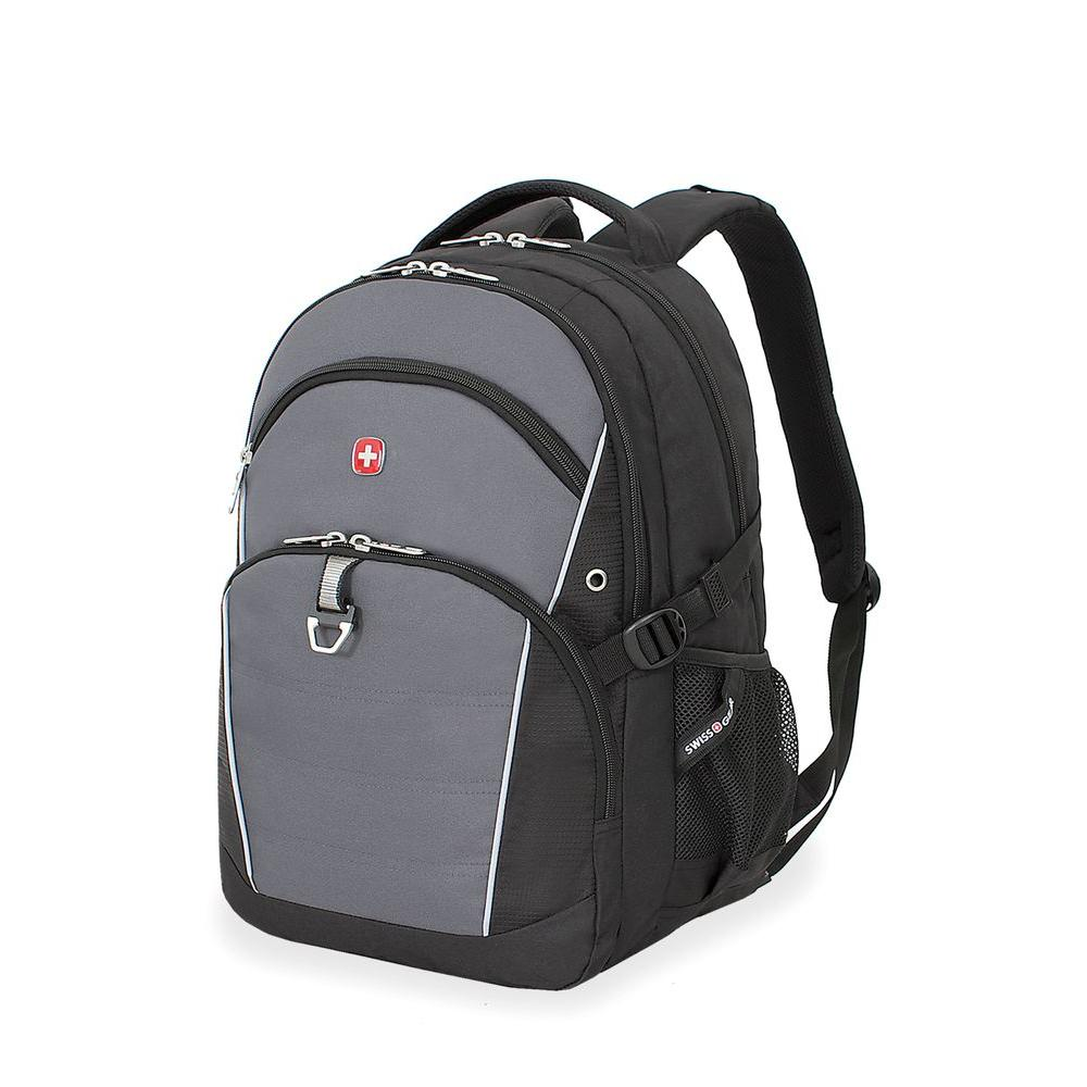 SWISSGEAR 18.5 in. Black and Grey Backpack-3272204408 - The Home Depot
