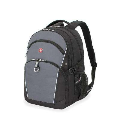18.5 in. Black and Grey Backpack