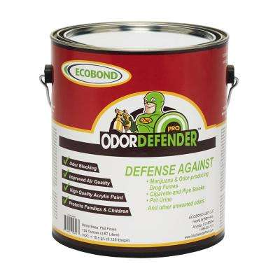 OdorDefender, 1-Gal. Off White Flat Smoke Eliminator & Odor Blocking Paint