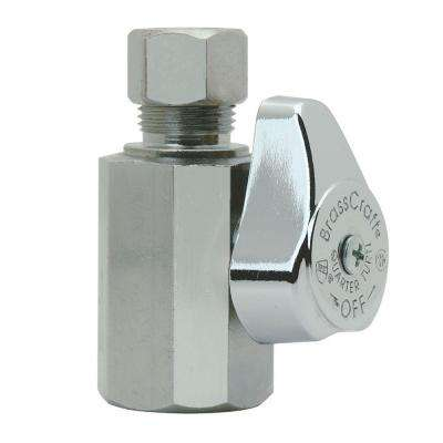 1/2 in. FIP Inlet x 3/8 in. O.D. Compression Outlet 1/4-Turn Straight Valve