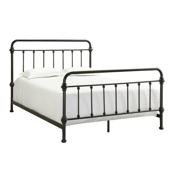 Calabria Antique Brown Queen Bed Frame