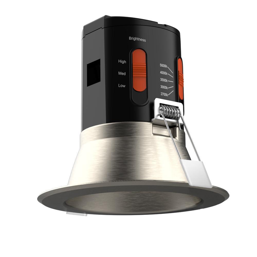 Premium Downlight 4in. Brushed Nickel Integrated LED Recessed Kit