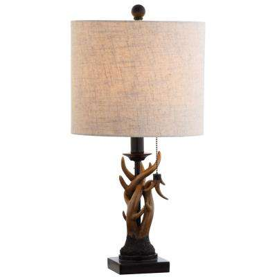 Gaston 20.5 in. Brown Resin Mini Table Lamp
