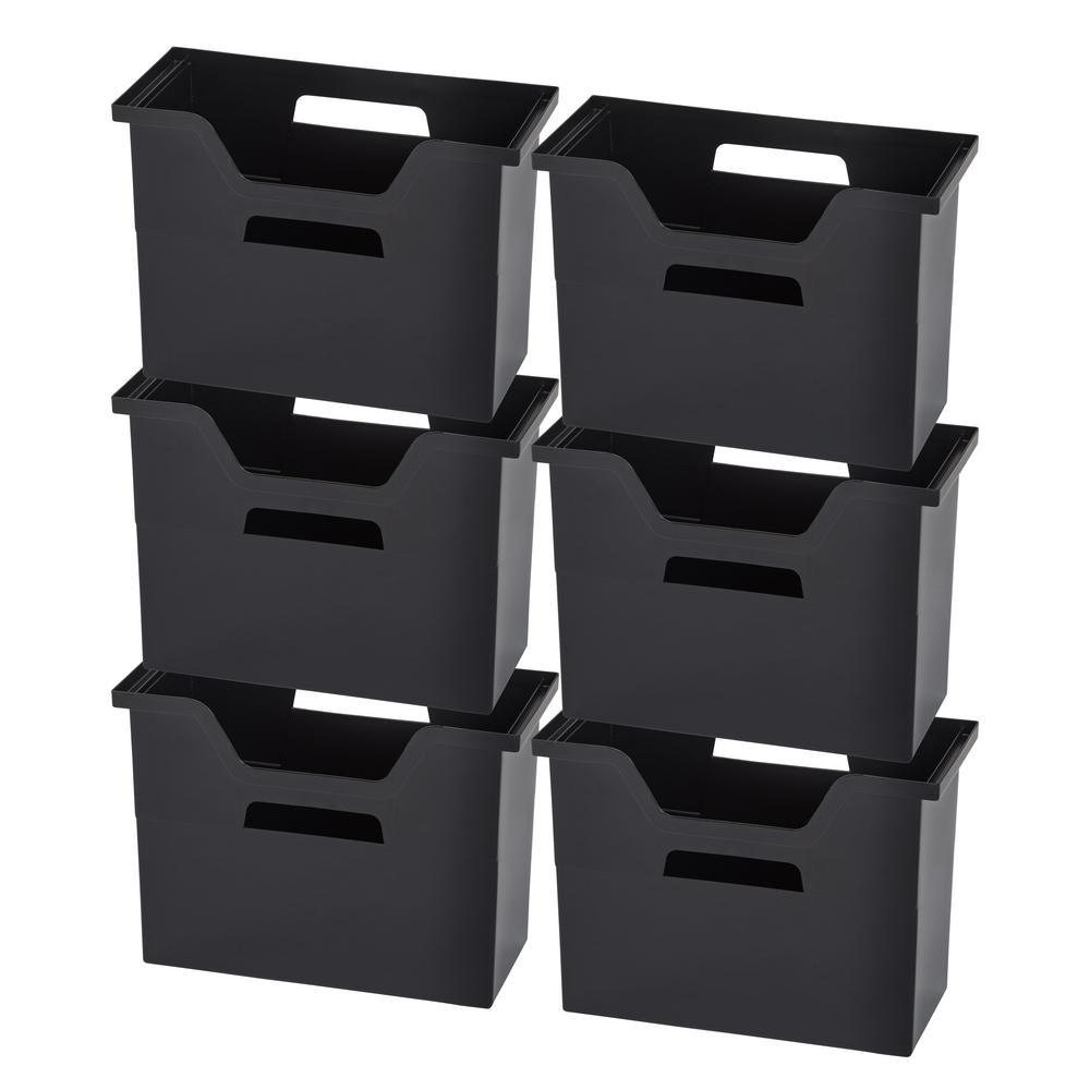 Medium Desktop File Box in Black (6 per Pack)