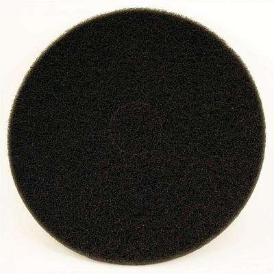 17 in. Non-Woven Black Buffer Pad