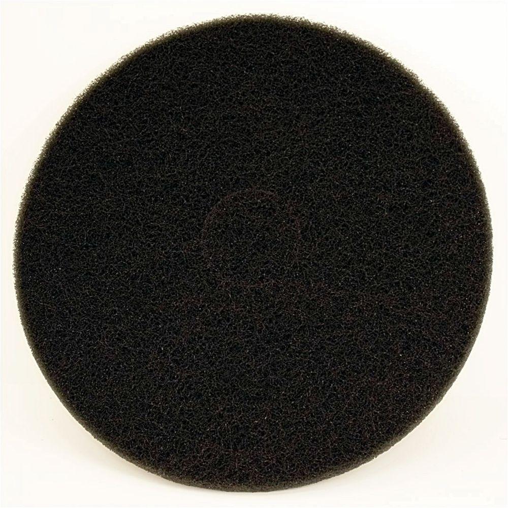 DIABLO 17 in. Non-Woven Black Buffer Pad