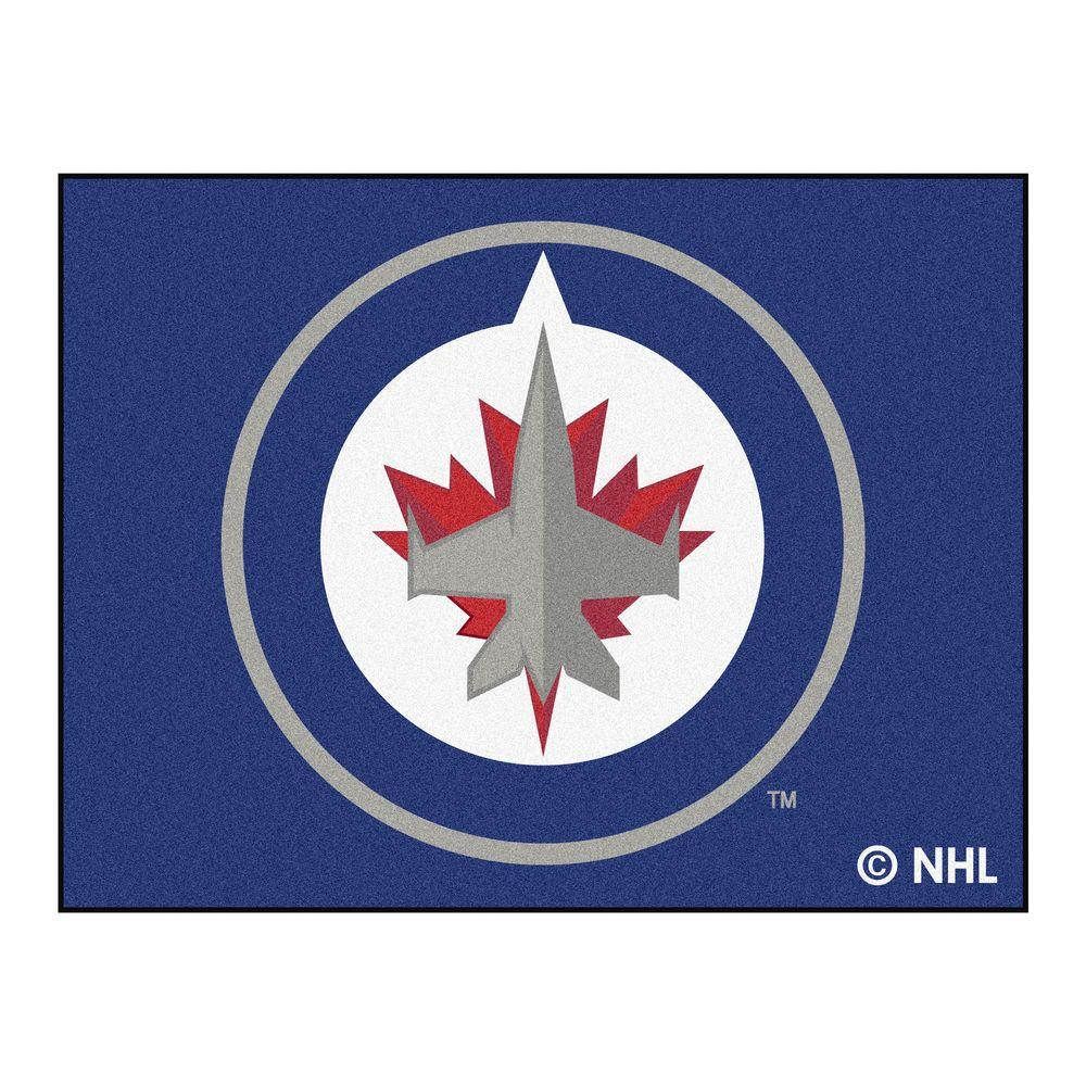 Fanmats Nhl Winnipeg Jets Navy 3 Ft X 4 Ft Area Rug
