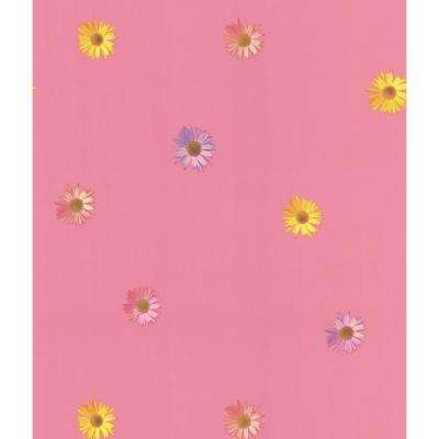 Pink Spot Floral Wallpaper Sample