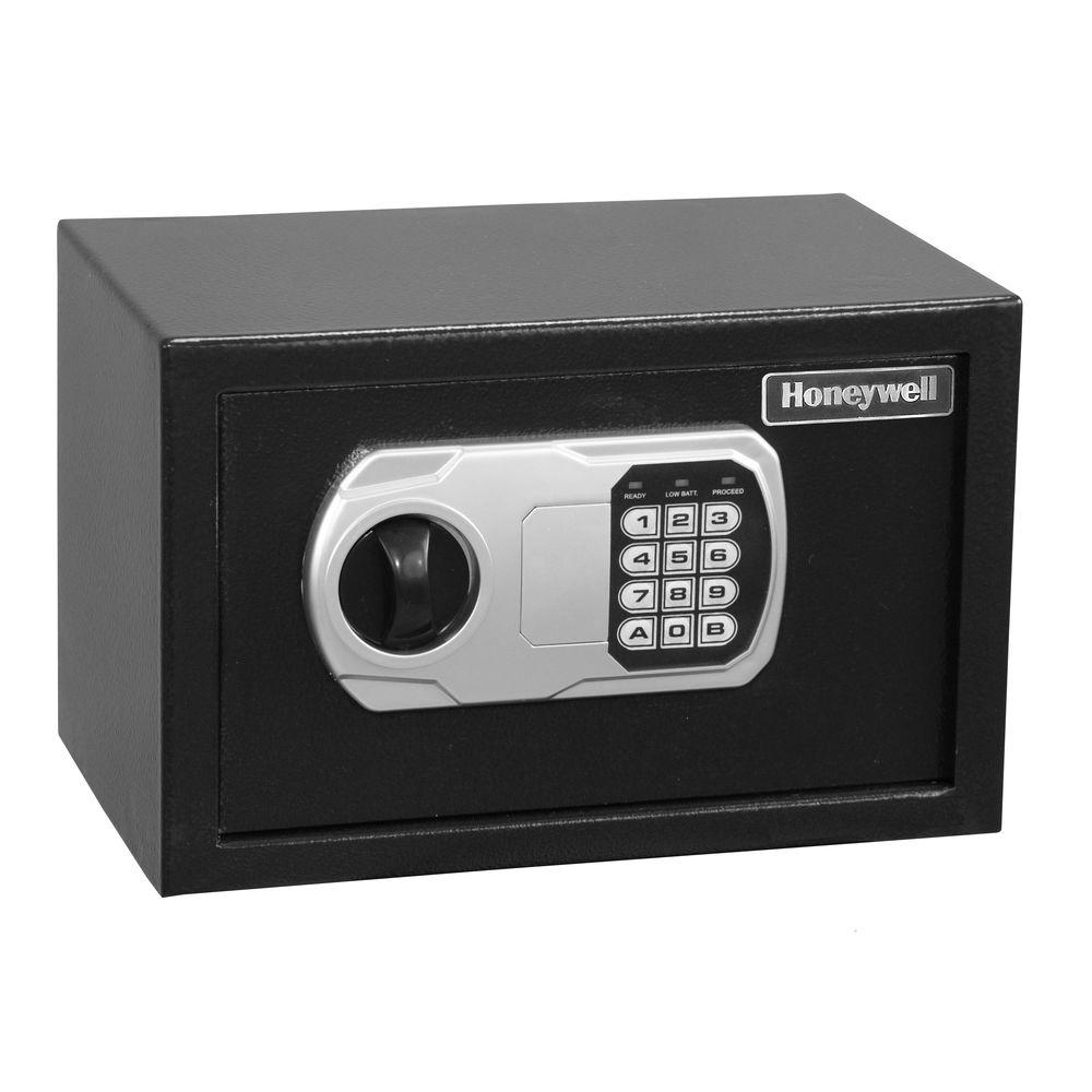 Honeywell 0.31 cu. ft. Black Small Steel Security Safe with Digital Lock