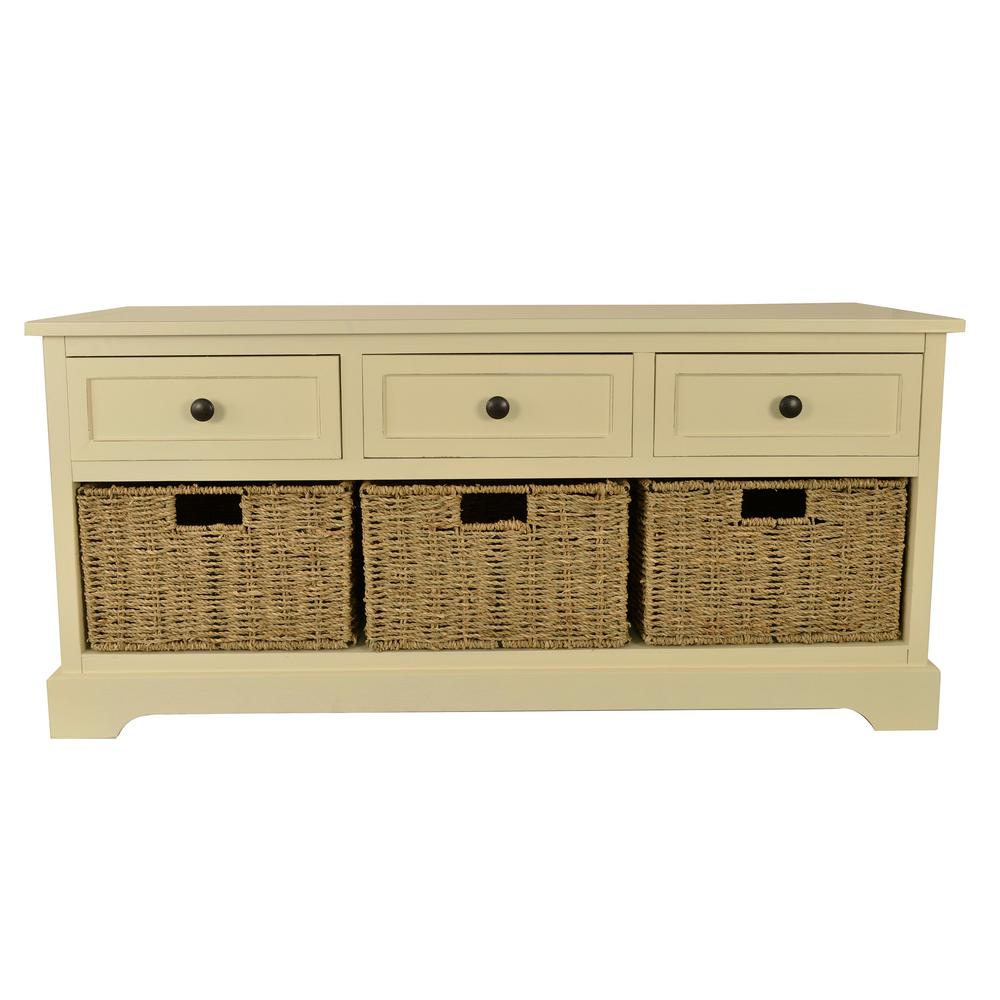 Montgomery White Storage Bench