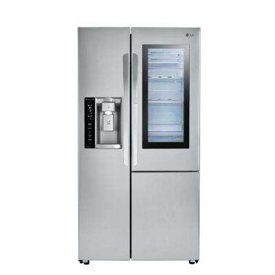 21.7 cu. ft. Side by Side Refrigerator with InstaView Door-in-Door in Stainless Steel, Counter Depth