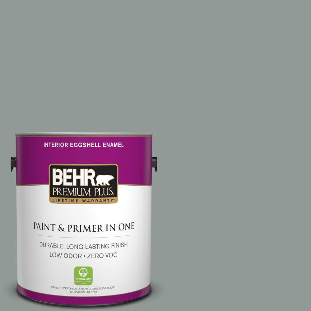 BEHR Premium Plus 1-gal. #BXC-66 Dusk Blue Eggshell Enamel Interior Paint