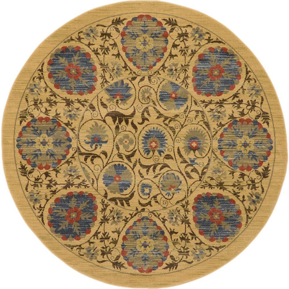 Edinburgh Tan 6' x 6' Round Rug