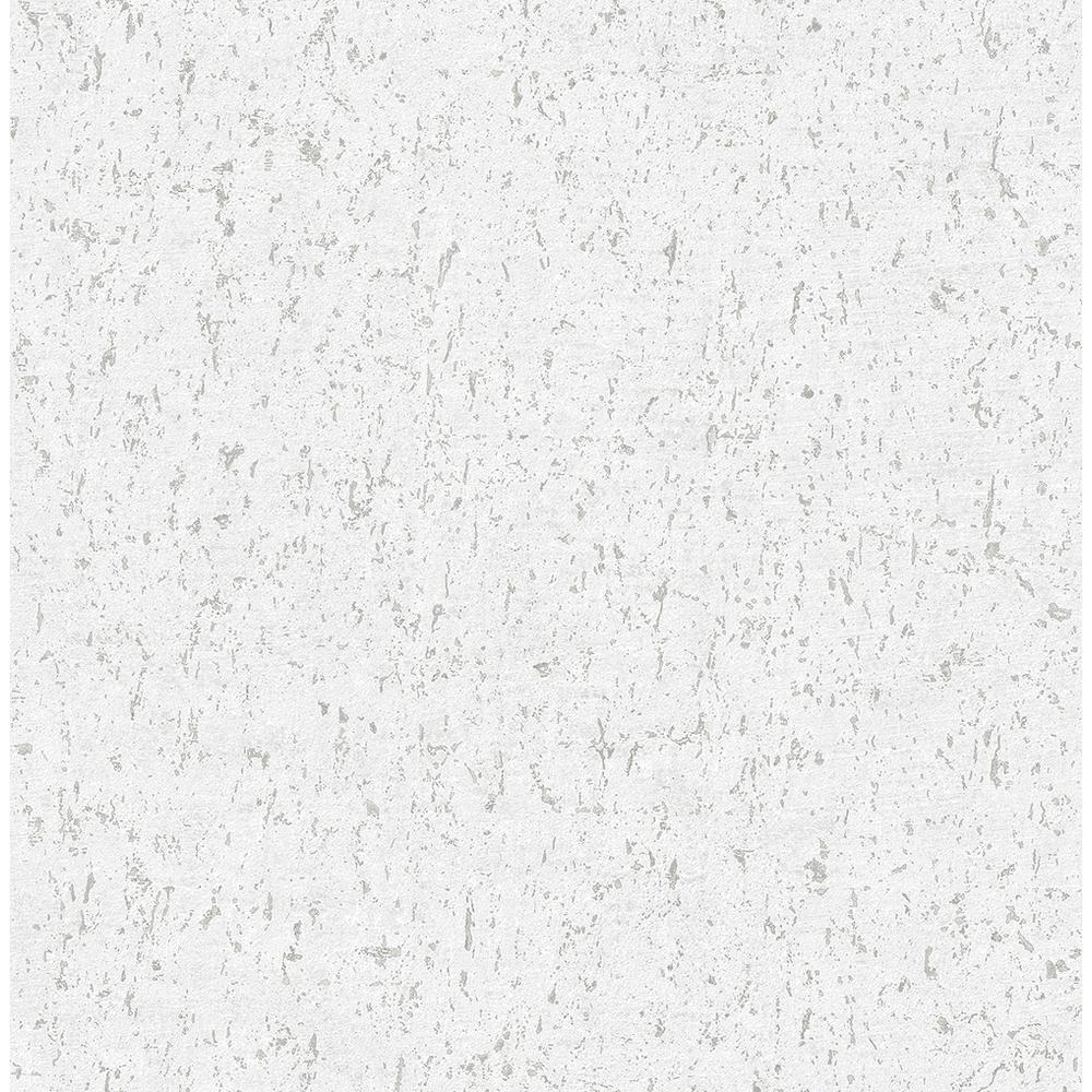8 in. x 10 in. Guri White Faux Concrete Wallpaper Sample