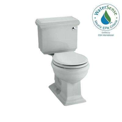 Memoirs Classic 2-piece 1.28 GPF Single Flush Round Toilet in Ice Grey