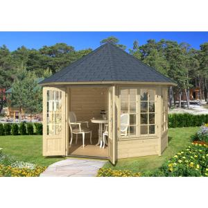 EMMA 4F 11 ft. x 11 ft. Octogan Log Gazebo by