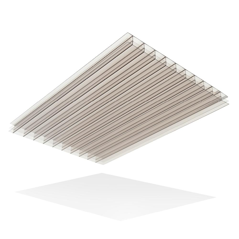LEXAN Thermoclear 24 in. x 24 in. x 1/4 in. Bronze Multiwall Polycarbonate Sheet (5-Pack)