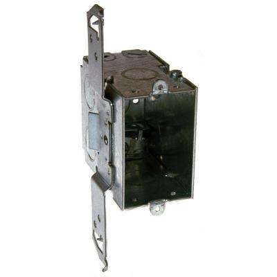3-1/2 in. Deep Gangable Switch Box with Armored Cable/Metal Clad/Flex Clamps and TS Bracket Set Back 1/2 in. (25-Pack)