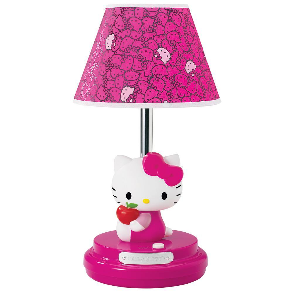 Hello Kitty 16.5 in. Pink Hello Kitty Table Lamp
