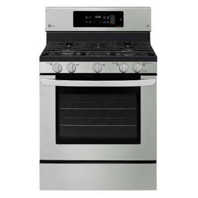 5.4 cu. ft. Gas Range with Self-Cleaning in Stainless Steel