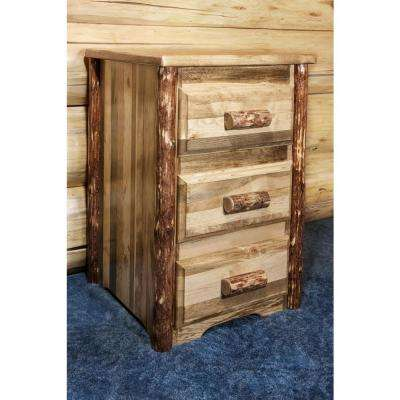Glacier Country Collection 3-Drawer Stained and Lacquered Nightstand