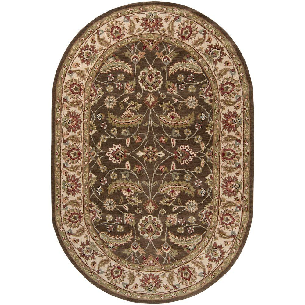 John Brown 6 ft. x 9 ft. Oval Area Rug