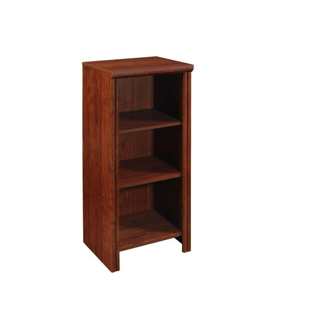 Impressions 14.57 in. x 16 in. Dark Cherry Laminate Narrow 4-Shelf